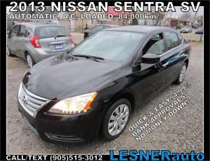 2013 NISSAN SENTRA SV -AUTO A/C LOADED BLUETOOTH- NO-ACCIDENTS!