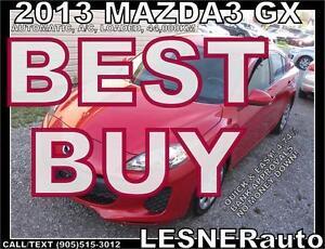 2013 MAZDA3 GX -AUTO A/C LOADED- 44,000KM  -FACTORY WARRANTY!