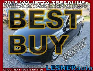 2015 VW JETTA TreadLine+$3000Down $209for 60months- LOW KMS