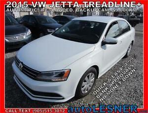 2015 VW JETTA TREADLINE+ AUTO A/C LOADED BACKUPCAM 59,KM