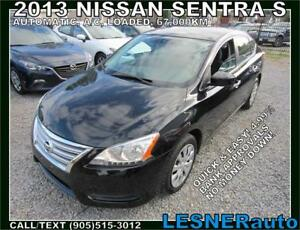2013 NISSAN SENTRA S -AUTO A/C LOADED BLUETOOTH 67,KM- LOW KMS