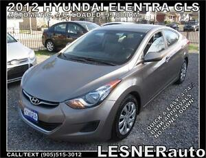 2012 HYUNDAI ELANTRA GLS -AUTO A/C LOADED- NO ACCIDENTS!