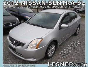 2012 NISSAN SENTRA SL -AUTO, LOADED, ALLOYS, SPOLIER-