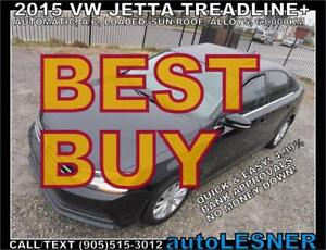2015 VW JETTA Treadline+ Sunroof Alloys -NO-ACCIDENTS! mint*