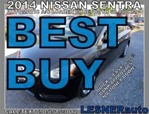 2014 NISSAN SENTRA SV -AUTO LOADED BLUETOOTH 62,KM- NO-ACCIDENTS