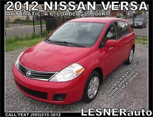 2012 NISSAN VERSA S S HATCH -AUTO A/C LOADED- 80,KM-  BEST BUYS!