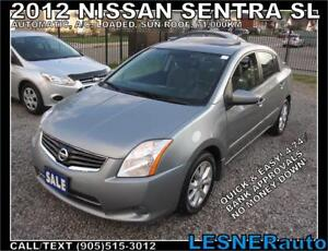 2012 NISSAN SENTRA SL -LOADED SUN-ROOF BLUETOOTH- 71,000KM