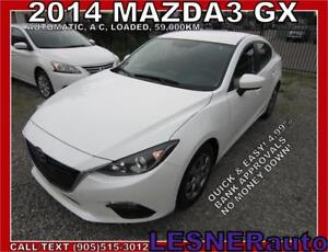 2014 MAZDA3 GX -AUTO LOADED BLUETOOTH 59,KM- FACTORY WARRANTY