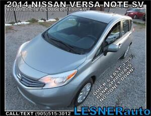2014 NISSAN VERSA SV -AUTO A/C LOADED 51,KM- NO-ACCIDENTS!
