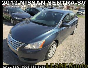 2013 NISSAN SENTRA -AUTO LOADED 66,KM- -NO-ACCIDENTS!
