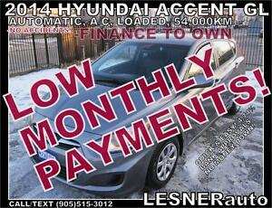 $3000 DOWN, $155 for 60 months! SALE$9988- 2014 HYUNDAI ACCENT