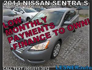 $3000 DOWN, $175 for 60 months! PRICE$10980 -2014 NISSAN SENTRA-