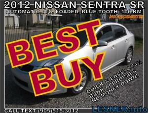 2012 NISSAN SENTRA SR -AUTO LOADED BLUE-TOOTH- 100,KM-