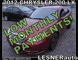 $3000 DOWN, $109 for 60 months! SALE$7588 -2012 CHRYSLER 200 LX