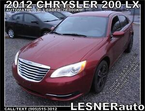 2012 CHRYSLER 200 LX -AUTO A/C LOADED- 78,KM  [[ LESNERdirect ]]
