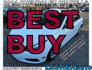 2014 CHEVROLET CRUZE LS ----$3000 Down $150 for 60 months!