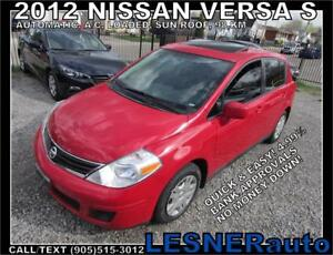 2012 NISSAN VERSA S -AUTO LOADED SUN-ROOF 98,KM- no-accidents!