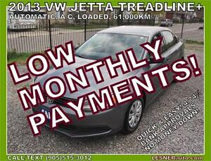 $3000 DOWN, $176 for 60 months! SALE$10980 --2013 VW JETTA
