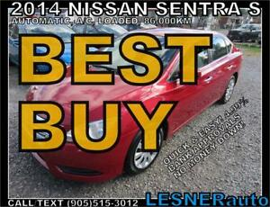 2014 NISSAN SENTRA S- $167 tax inc. for 60 months & $3000 down!