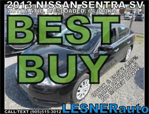 2013 NISSAN SENTRA -AUTO LOADED 64,KM- BEST BUY!