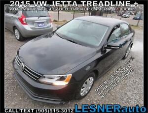 2015 VW JETTA TREADLINE+ -AUTO A/C LOADED BACKUPCAM 47,KM-