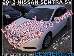 $3000 DOWN, $139 for 60 months! PRICE$8980 -2013 NISSAN SENTRA