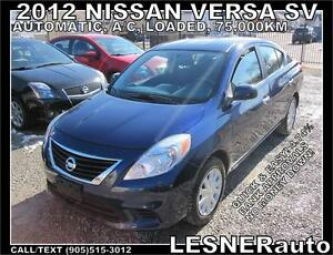 2012 NISSAN VERSA SV -AUTO LOADED BLUE-TOOTH- -NO ACCIDENTS!