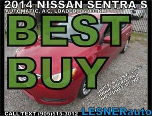 2014 NISSAN SENTRA S -AUTO A/C LOADED 86,KM- (((BEST BUY)))