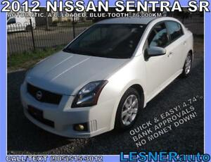 2012 NISSAN SENTRA SR-LOADED BLUE-TOOTH CC HEATED SEATS- 86,KM