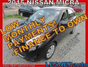 2015 NISSAN MICRA S -$99 for 60months -with $3000down-