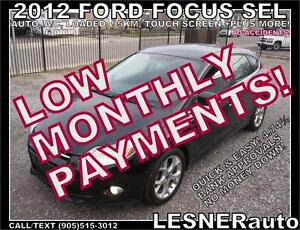 $3000 DOWN, $134 for 60 months! SALE$8988  2012 FORD FOCUS SEL