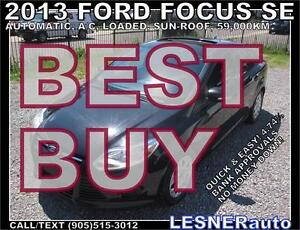 2013 FORD FOCUS SE -SUNROOF 59,KM- FACTORY WARRANTY-NO ACCIDENTS
