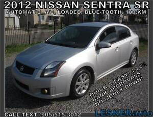 2012 NISSAN SENTRA SR -AUTO LOADED BLUE-TOOTH- 107,KM-