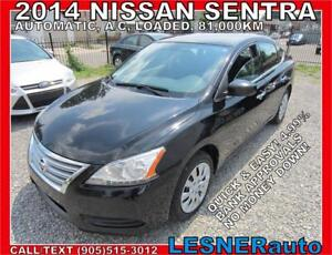 2014 NISSAN SENTRA S -AUTO A/C LOADED 81,KM- NO-ACCIDENTS!