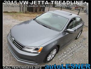 2015 VW JETTA -AUTO LOADED SUNROOF ALLOYS 68,KM -NO-ACCIDENTS!
