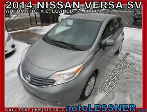 2014 Nissan Versa -ZERO DOWN, $180 for 60 months FINANCE TO OWN!