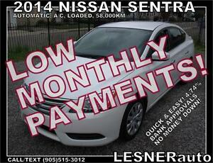 $3000 DOWN, $177 for 60 months! SALE$10988 -2014 NISSAN SV