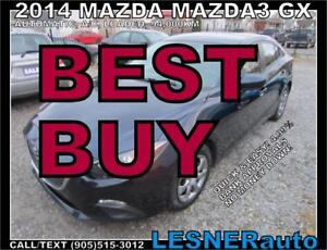 2014 MAZDA MAZDA3 GX -AUTO A/C LOADED 94,KM- ((BEST-BUY))