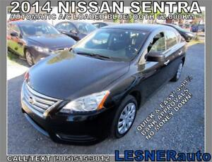 2014 NISSAN SENTRA SV -AUTO A/C LOADED BLUETOOTH 62,KM-..