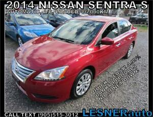 2014 NISSAN SENTRA S -AUTO LOADED 86,KM- NO-ACCIDENTS!