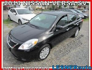 2014 NISSAN VERSA SV SEDAN -AUTO A/C LOADED- NO-ACCIDENTS!