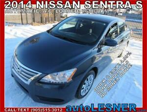 2014 Nissan Sentra -ZERO DOWN, $198 for 60 months FINANCE TO OWN