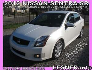 2012 NISSAN SENTRA SR -LOADED BLUE-TOOTH CC HEATED SEATS- 84,KM