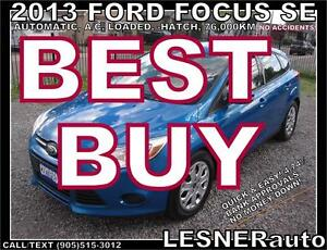 2013 FORD FOCUS SE -AUTO LOADED HATCH-  NO ACCIDENTS!