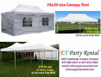 Tents, Chairs, Tables Rent !!!