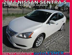 2014 NISSAN SENTRA-ZERO DOWN, $182 for 60 months FINANCE TO OWN!