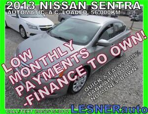 $3000 DOWN, $160 for 60 months! PRICE$9880  -2013 NISSAN SENTRA