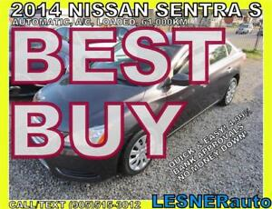 2014 NISSAN SENTRA S -AUTO LOADED BLUETOOTH 61,KM- NO-ACCIDENTS!