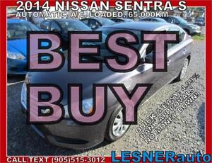 2014 NISSAN SENTRA S -$166 for 60month & $3000down! -finance