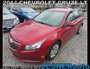 2014 CHEVROLET CRUZE LT -AUTO LOADED 64,KM- BEST DEALS!